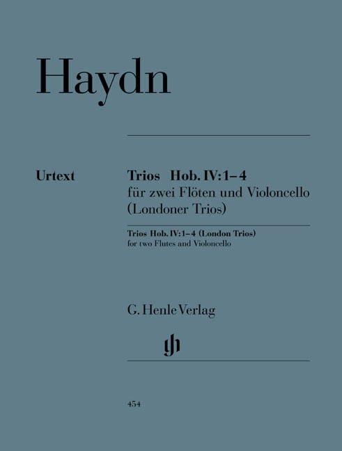 Trios Hob. IV:1-4 pour deux flûtes et violoncelle Trios de Londres - laflutedepan.com