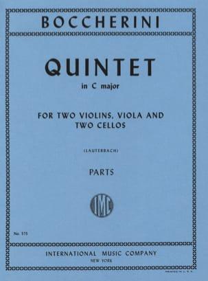 Quintet in C major - Parts BOCCHERINI Partition laflutedepan
