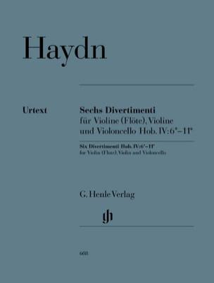 Six divertimenti Hob. IV:6*-11* pour violon flûte, violon et violoncelle laflutedepan