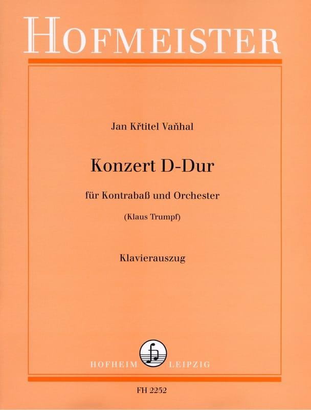 Konzert D Dur - Kontrabass - Johann Baptist Vanhal - laflutedepan.com