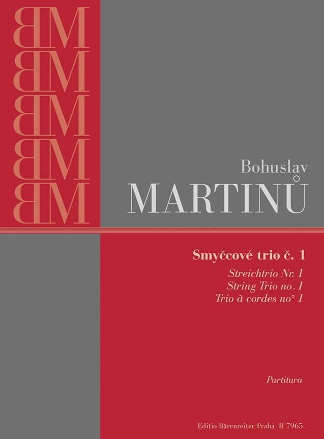 Trio à cordes n° 1 - Partitura - MARTINU - laflutedepan.com