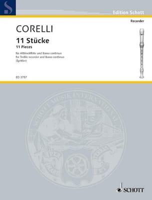 Elf Stücke - Altblockflöte U. Bc CORELLI Partition laflutedepan