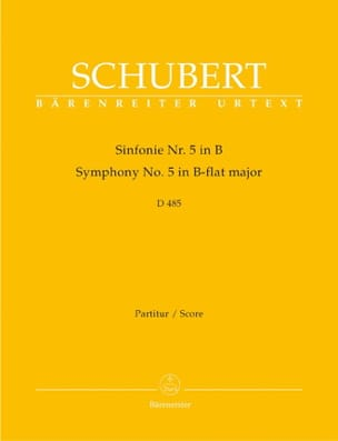 SCHUBERT - Symphony Nr. 5 B-Dur D. 485 - Partitur - Partition - di-arezzo.co.uk