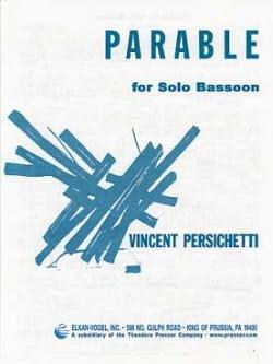 Parable for solo Bassoon Vincent Persichetti Partition laflutedepan