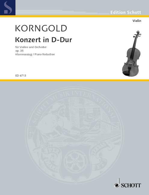 Concerto en Ré Majeur Opus 35 - KORNGOLD - laflutedepan.com