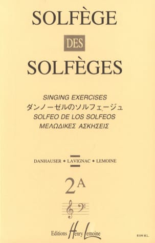 Volume 2A - S/A - Solfège des Solfèges Lavignac Partition laflutedepan