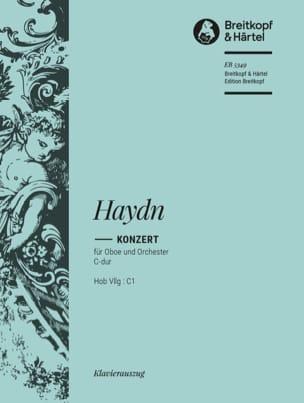 Oboenkonzert C-Dur Hob 7g : C1 - Hautbois piano HAYDN laflutedepan