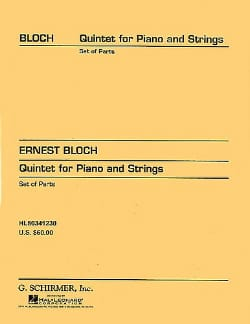Quintet piano and strings n° 1 -parts BLOCH Partition laflutedepan