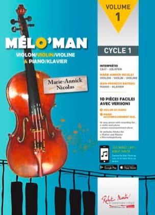 Mélo'man Marie-Annick Nicolas Partition Violon - laflutedepan