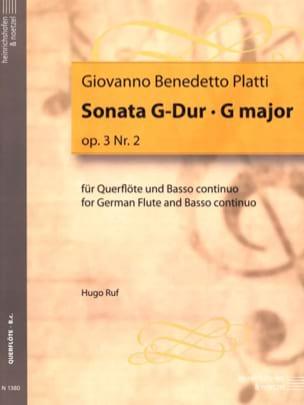 Sonata G-Dur Op. 3 N°2 Giovanni Benedetto Platti laflutedepan