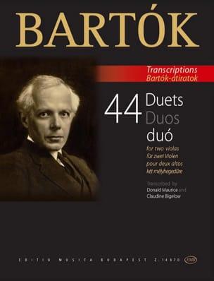 44 Duos - 2 Altos BARTOK Partition Alto - laflutedepan