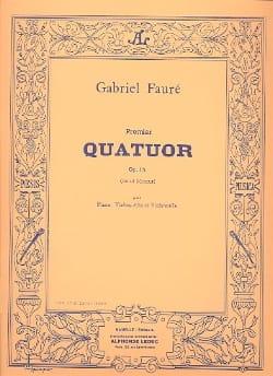Quatuor n° 1 op. 15 ut mineur - Parties FAURÉ Partition laflutedepan