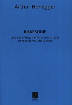 Rhapsodie -2 flûtes, clarinette et piano HONEGGER laflutedepan