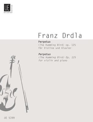 Perpetuo op. 125 Franz Drdla Partition Violon - laflutedepan