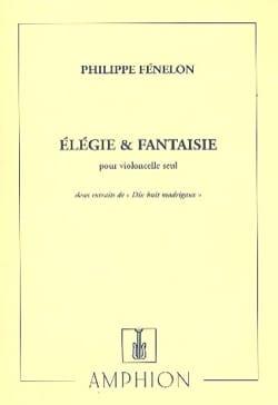 Elégie et Fantaisie Philippe Fénelon Partition laflutedepan