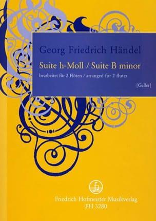 Suite en Si Mineur - HAENDEL - Partition - laflutedepan.com