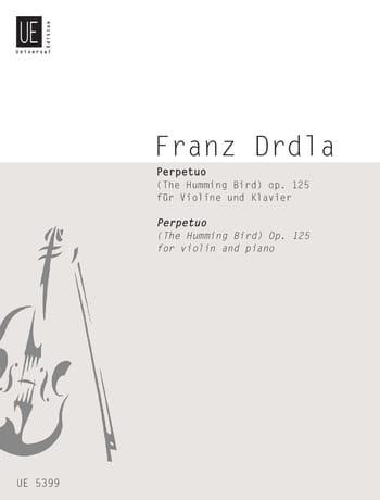 Perpetuo op. 125 - Franz Drdla - Partition - Violon - laflutedepan.com