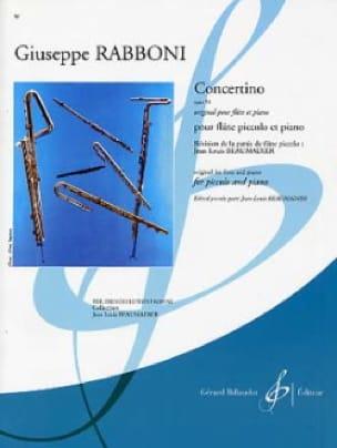 Concertino Op.50 - Giuseppe Rabboni - Partition - laflutedepan.com
