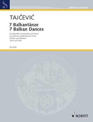 Sieben Balkantänze Marko Tajcevic Partition Trios - laflutedepan