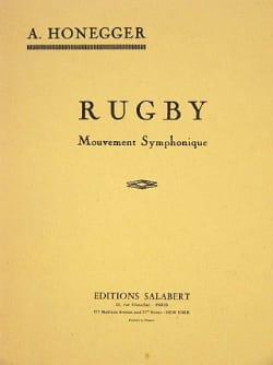 Rugby - Conducteur HONEGGER Partition Petit format - laflutedepan