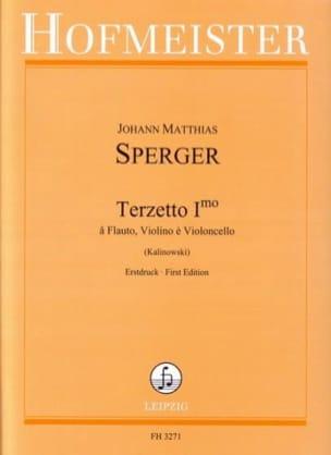 Terzetto Primo Johann Matthias Sperger Partition Trios - laflutedepan