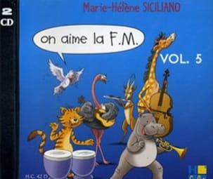 CD - On Aime la FM Volume 5 SICILIANO Partition laflutedepan