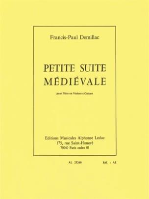 Petite suite médiévale Francis-Paul Demillac Partition laflutedepan