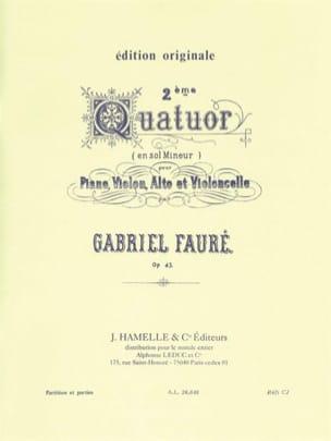 Quatuor n° 2 op. 45 sol mineur -Parties FAURÉ Partition laflutedepan