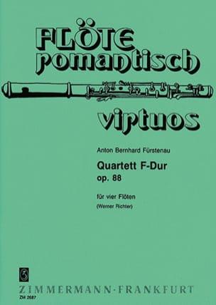 Quartett F-Dur op. 88 - 4 Flöten Anton Bernhard Fürstenau laflutedepan