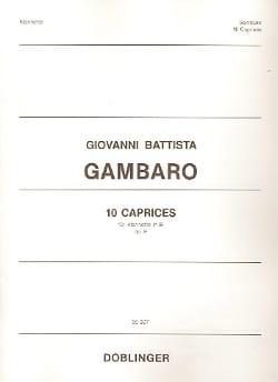 Giovanni Battista Gambaro - 10 Caprices op. 9 - Partition - di-arezzo.co.uk