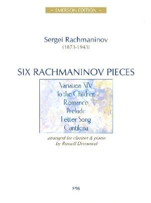 Six Rachmaninov Pieces RACHMANINOV Partition Clarinette - laflutedepan