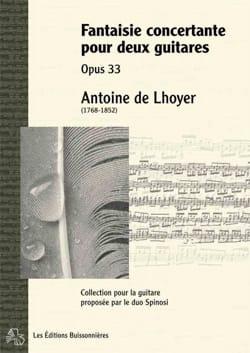 Fantaisie Concertante, opus 33 Antoine de Lhoyer laflutedepan