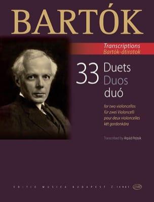 33 Duos - 2 Violoncelles BARTOK Partition Violoncelle - laflutedepan