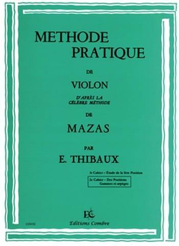 Méthode Pratique D'après Mazas Volume 2 - MAZAS - laflutedepan.com