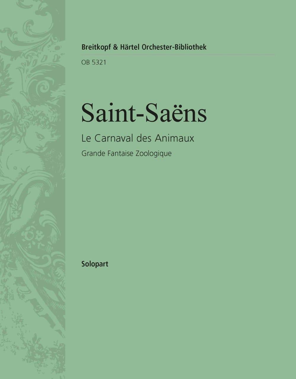 Le Carnaval des Animaux - SAINT-SAËNS - Partition - laflutedepan.com