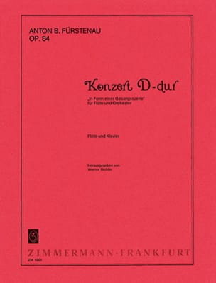 Konzert D-Dur op. 84 - Flöte Klavier laflutedepan