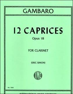 Giovanni Battista Gambaro - 12 Caprices op.18 - Partition - di-arezzo.co.uk