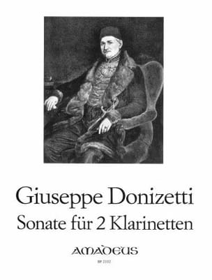 Sonate - 2 Klarinetten DONIZETTI Partition Clarinette - laflutedepan