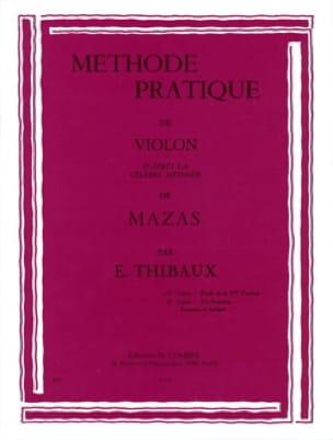 Méthode Pratique D'après Mazas Volume 1 - MAZAS - laflutedepan.com