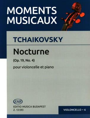 Nocturne Op. 19 N° 4 - Cello TCHAIKOVSKY Partition laflutedepan