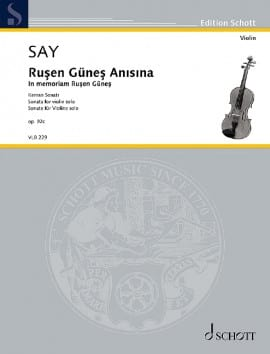 Rusen Günes Anisina, op. 92c Fazil Say Partition Violon - laflutedepan