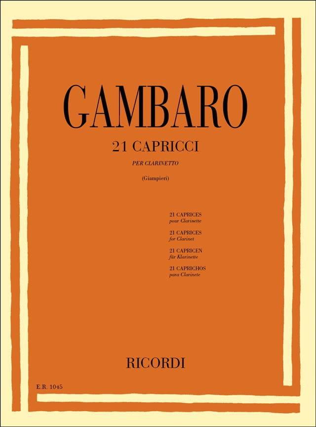 21 Capricci - Vincenzo Gambaro - Partition - laflutedepan.com