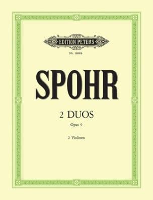 2 Duos op. 9 SPOHR Partition Violon - laflutedepan
