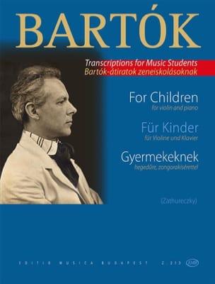 BARTOK - Para niños Gyermekeknek - Partition - di-arezzo.es