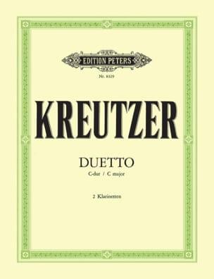 Duetto C-Dur - 2 Klarinetten Conradin Kreutzer Partition laflutedepan