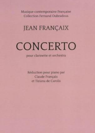 Concerto pour clarinette - Clarinette et piano FRANÇAIX laflutedepan
