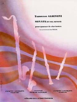 Sonate en Sol mineur ALBINONI Partition Clarinette - laflutedepan