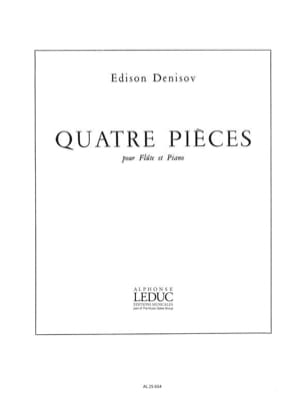 4 pièces Edison Denisov Partition Flûte traversière - laflutedepan