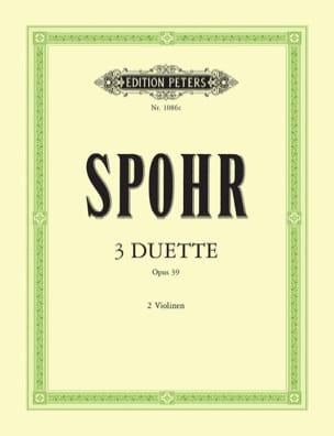 3 Duette op. 39 SPOHR Partition Violon - laflutedepan