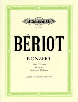 Konzert N° 1 Op. 16 D-Dur BÉRIOT Partition Violon - laflutedepan